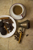 Choco with coffee and cinnamon 19 Royalty Free Stock Photography