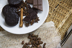 Choco with coffee and cinnamon 25 Royalty Free Stock Photo
