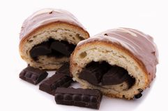 Choco croissant Royalty Free Stock Photography