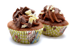 Choco cupcake Royalty-vrije Stock Afbeeldingen