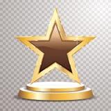 Choco d'or d'étoile de podium illustration stock