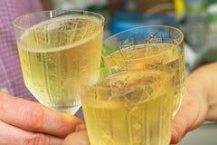 Choco des verres, plan rapproché Photo libre de droits