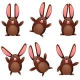 Choco egg bunny Stock Photo