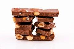 Choco en noten Stock Foto