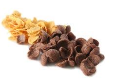 Choco et flocons d'avoine photographie stock