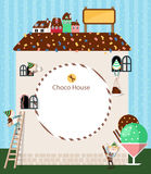 Choco House frame Royalty Free Stock Photos