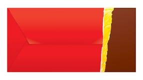 Choco invitations. Reverse side. Royalty Free Stock Photos