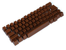 Choco keyboard. Sweet choco keyboard 3d illustration Royalty Free Stock Photos