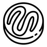 Choco ljusbrun symbol, översiktsstil stock illustrationer