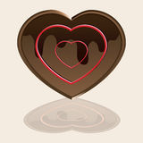 Choco Love. Choco heart vector for Mother´s Day or Valentine´s day cards Royalty Free Stock Images