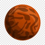 Choco lunch biscuit icon, cartoon style stock illustration