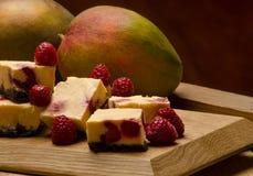 Choco-mango-raspberry square Royalty Free Stock Images