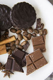 Choco med kaffe och kanel 02 Arkivfoto