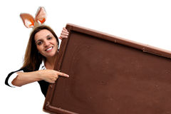 Choco message Royalty Free Stock Photography