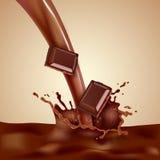 Choco Milk Illustration Royalty Free Stock Photos