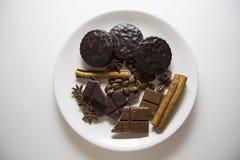 Choco mit Kaffee und Zimt 10 Stockbild