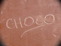 Choco op chocolade Stock Foto