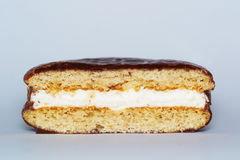 Choco-pie. Cookies stuffed with cream Royalty Free Stock Photography