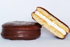 Choco-pie. Cookies stuffed with cream Royalty Free Stock Image