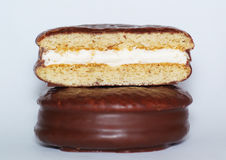 Choco-pie. Cookies stuffed with cream Stock Images
