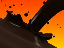 Choco splash Stock Photos