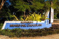 Choco-story Uxmal. UXMAL, MEXICO - NOV 4, 2016: Choco-story Uxmal, a chocolate museum, a touristic attraction in Mexico Royalty Free Stock Photography