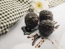 Chococlate Ball. And Chocolate cream Royalty Free Stock Photography