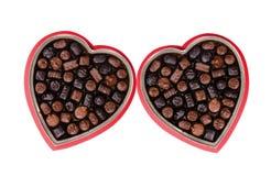 Chocolade 1 van de valentijnskaart stock foto