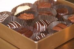 Chocolade 2 van de valentijnskaart stock foto's