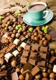 Chocolade & Koffie royalty-vrije stock foto's