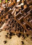 Chocolade & Koffie stock fotografie