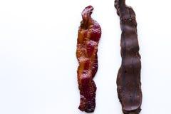 Chocolade behandeld bacon Stock Afbeeldingen