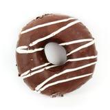 Chocolade Behandelde Doughnut Stock Afbeeldingen