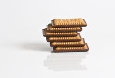 Chocolade behandelde koekjes in de piramide Royalty-vrije Stock Afbeelding