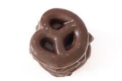Chocolade behandelde peperkoekkoekjes Royalty-vrije Stock Afbeeldingen