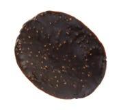 Chocolade behandelde rijstchips op een witte achtergrond Stock Afbeeldingen