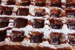 Chocolade behandelde wafel Royalty-vrije Stock Afbeeldingen