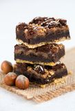 Chocolade Brownie Cake Royalty-vrije Stock Afbeeldingen