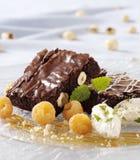 Chocolade brownies Stock Foto's