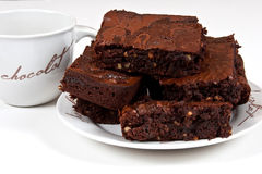 Chocolade Brownies Royalty-vrije Stock Afbeelding