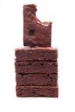 Chocolade brownies. Stock Afbeeldingen