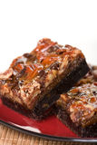 Chocolade Brownies Royalty-vrije Stock Foto
