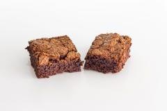 Chocolade brownies dessert Royalty-vrije Stock Afbeeldingen