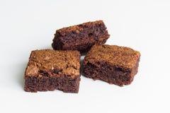 Chocolade brownies dessert Stock Foto's