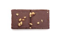 Chocolade Brownies met Noten op Bovenkant Stock Afbeelding