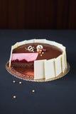 Chocolade Cherry Mousse Cake Stock Foto