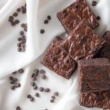 Chocolade Chip Brownies Stock Afbeelding