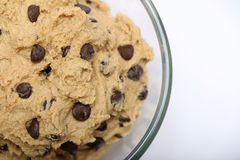 Chocolade Chip Cookie Dough Royalty-vrije Stock Afbeelding