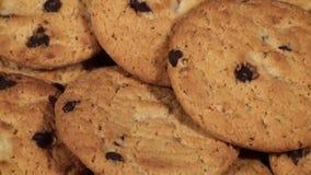 Chocolade Chip Cookies stock videobeelden