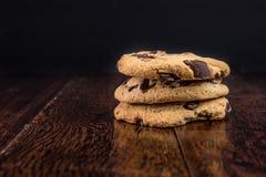 Chocolade Chip Cookies Stock Afbeeldingen